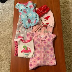 Bundle of girl Christmas Pajamas